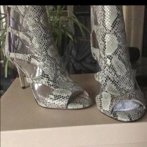 NEW IN BOX BCBGeneration Faux Snake Stiletto Heels
